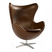 Кресло дизайнерское Эгг,  цвет черный,  коричневый,  белый