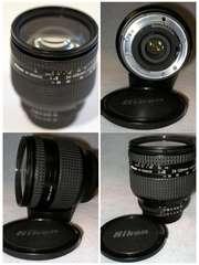 На Nikon Автофокусные объктивы 28-200мм,  24-120мм,  28-90мм и вспышка