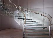 Изготовление стеклянных лестниц,  ограждений,  ширм.