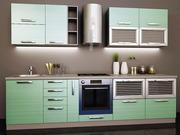 Кухня модерн в цвете Штрокс олива