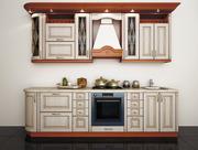 Кухня  классическая в цвете акация патина