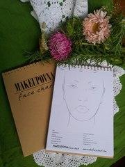 Face chart makeupovna фейс чарт БЛОКНОТЫ В НАЛИЧИИ!!!!