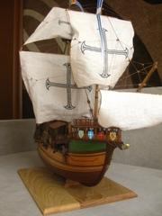 Парусник ручной работы Caracca Atlantica, масштаб 1:54