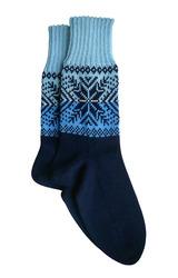 Носки ручной работы Норвежские снежинки