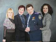 Семейный портрет маслом Киев.Заказать портрет маслом Киев.Портрет Киев