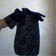 детский набор   шапка шарф перчаткидля девочки флисовый 6-8 лет