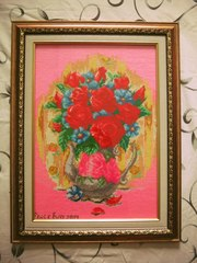 картина букет роз