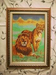 продам картину пара львов