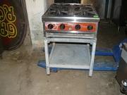 Продам б.у. газовую плиту Castom Heat для общепита,  кафе,  ресторана