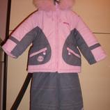Зимний комбинезон для девочки 2-3 года,  92 см.