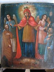 Предлагаю старинную икону  Всех скорбящих радость 19 века.