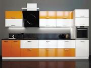 Кухня в цвете Оранж глянец