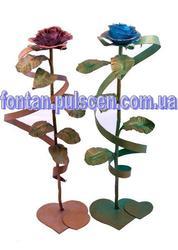 Кованая роза - сувенир подарок для девушки на новый год,  день рожденье