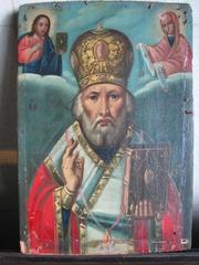Предлагаю старинную икону  Святой Николай Угодник 19 века.