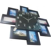 Настенная фоторамка с часами Zig-Zag