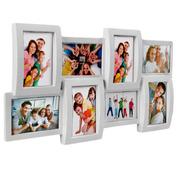 Объемная пластиковая мультирамка на 8 фото «Extra 8 White»,  белая