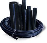 Труба полиэтиленовая ПЕ (полимерная) из ПНД,  труба напорная ПЕ-80 и ПЕ