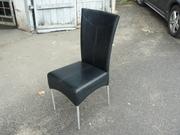 Продам стулья из кожзама черные б/у в ресторан,  кафе,  конференц-зал