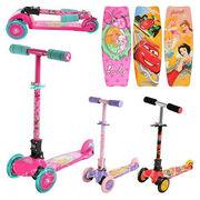 Самокат детский трехколесный Profi Trike: Барби, тачки, принцессы Диснея