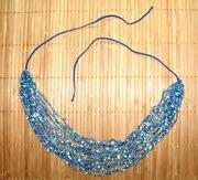 Ожерелья из бисера в ассортименте. Воздушка. Сине-голубые