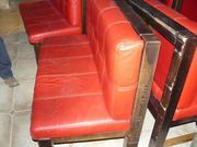 Продажа красных кожаных диванов бу