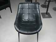 Продам  бу стулья черные кожзам для кафе,  баров