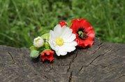 Заколка Полевые цветы