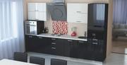 Кухня прямая мебельной фабрики GlossLine