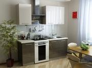 Кухня прямая мини мебельной фабрики GlossLine
