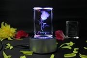 Романтический светильник I Love You,  ночник кристалл,  фото в кристалле