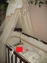 Деревянная кроватка Верес Соня ЛД7 со всеми «принадлежностями»