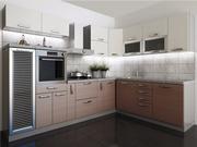 Наборная кухня в цвете Штрокс коричневый