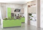 Кухня модерн в цвете Авокадо