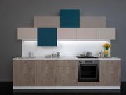 Кухня Hi-Tech в цвете Дуб Роспил