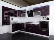 Кухня модерн в цвете Баклажан глянец
