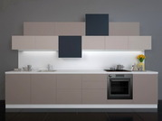 Кухня Hi-Tech в цвете Кашемир матовый