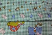 Постельное белье для детей из сатина,  Комплект Сонный зайка