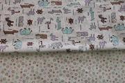 Постель в кроватку из сатина,  Комплект Забавные животные