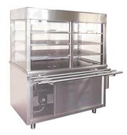 Продам новый охлаждаемый элемент с витриной для столовой