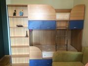 Двухэтажная (двухъярусная) детская кровать + шкаф