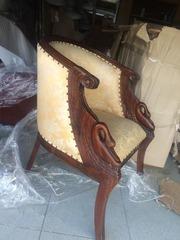 Кресло ткань и дерево,  бежевый цвет размеры