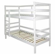 Кровать двухъярусная белого цвета из сосны