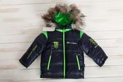 Куртка зимняя на мальчика 3-6 лет,  модная,  на подстежке