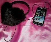 Меховые аудио-наушники