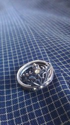 Кольцо сережки серебро 925