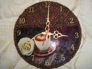Часы с натуральными зёрнами кофе