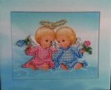 Картина вышитая бисером Двойнята