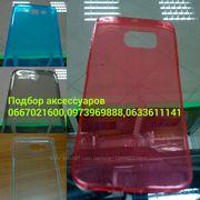Ультра тонкий прозрачный чехол и стекло Samsung A900 (A9) Все модел