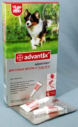Адвантикс д/собак 10-25кг Байер. 145грн за пипетку.
