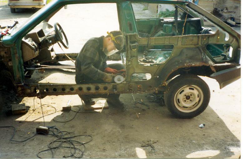 Фото №8 - ремонт кузова ВАЗ 2110 своими руками